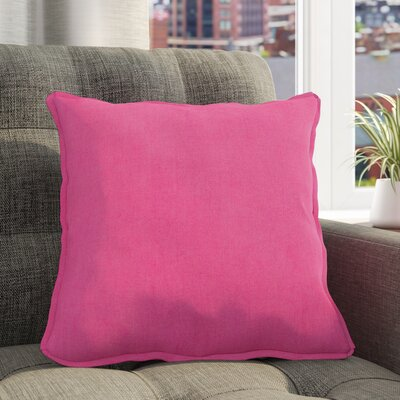 Breese 100% Linen Pillow Cover Size: 18 H x 18 W x 3.5 D, Color: Bright Pink