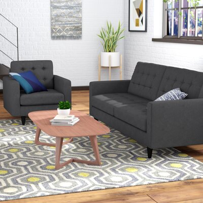 Warren 2 Piece Living Room Set Upholstery: Gray