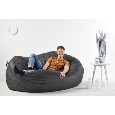 Big Joe Bean Bag Sofa Upholstery: Black