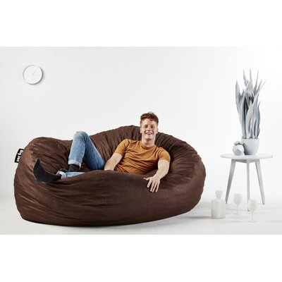 Big Joe Bean Bag Sofa Upholstery: Brown