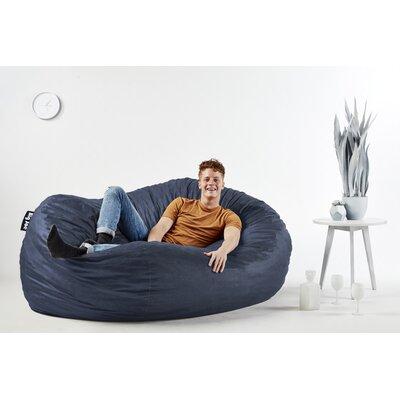 Big Joe Bean Bag Sofa Upholstery: Cobalt