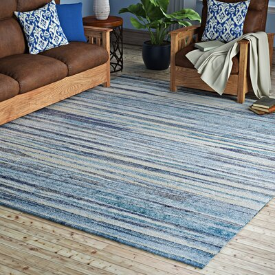 Milo Beige/Blue Area Rug Rug Size: Rectangle 82 x 10