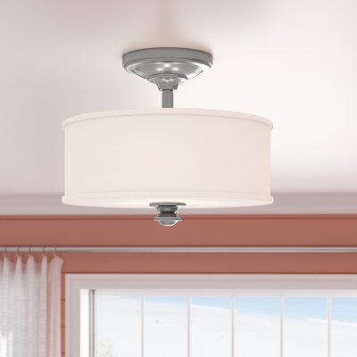 Bowers 2-Light Semi-Flush Mount Color: Brushed Nickel