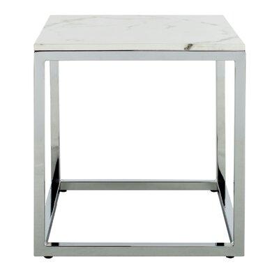 Katara End Table Table Base Color: Chrome