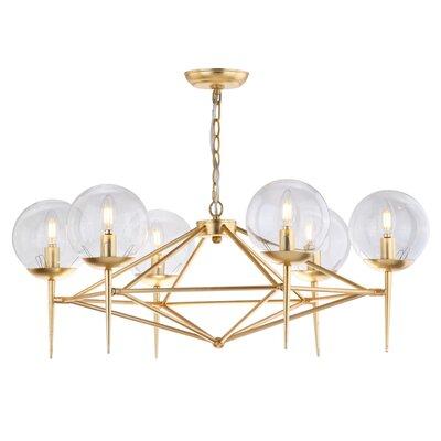 Jaidan 6 Light Candle-Style Chandelier