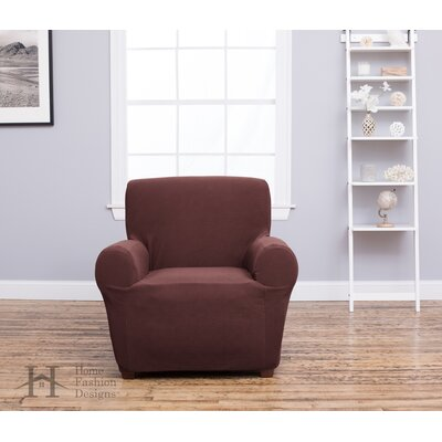 Box Cushion Recliner Slipcover Upholstery: Chocolate