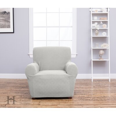 Box Cushion Recliner Slipcover Upholstery: Ivory