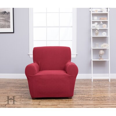 Box Cushion Recliner Slipcover Upholstery: Burgundy