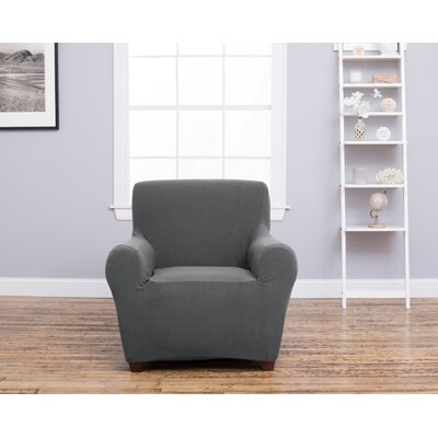 Box Cushion Recliner Slipcover Upholstery: Gray