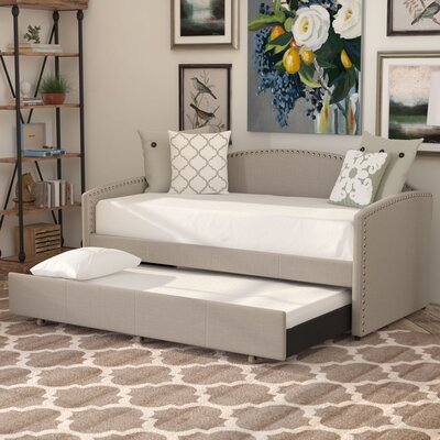 Ronce Daybed With Trundle Type: Trundle Included, Upholstery: Light Grey