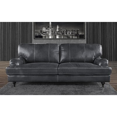 Westerlo Classic Leather Sofa Upholstery: Gray