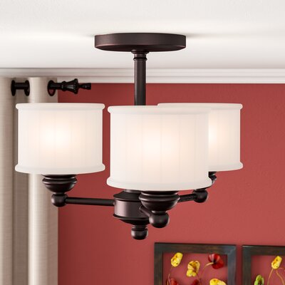 Nashville 3-Light Semi-Flush Mount Finish: Lathan Bronze