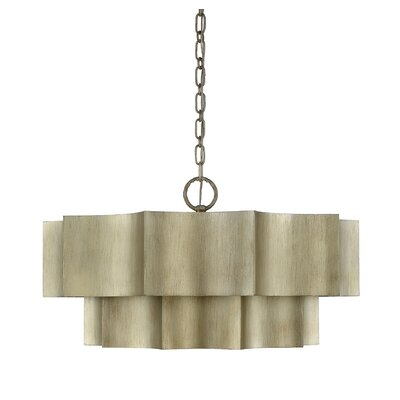 Henault 6-Light Drum Pendant Finish: Silver Patina