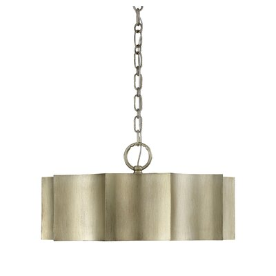 Henault 3-Light Drum Pendant Finish: Silver Patina