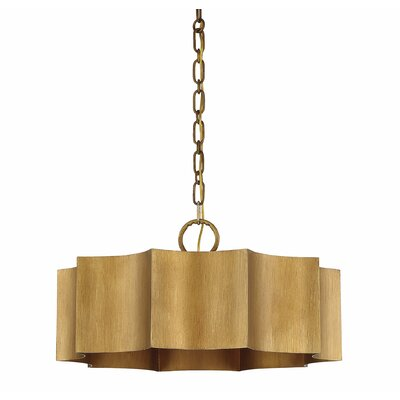 Henault 3-Light Drum Pendant Finish: Gold Patina