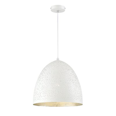 Coury 1-Light Inverted Pendant Finish: White/Silver