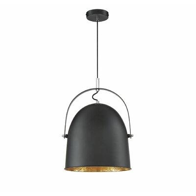 Grullon 1-Light Inverted Pendant Finish: Black/Gold