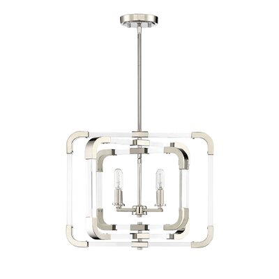 Haris 4-Light Foyer Pendant Finish: Polished Nickel
