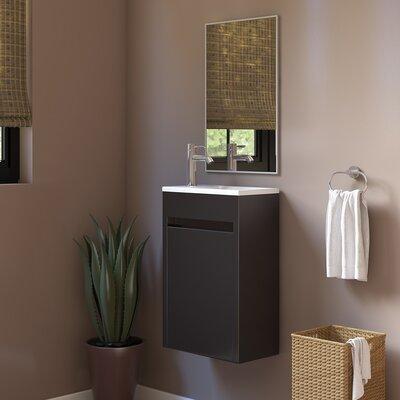 Nico 15 Single Bathroom Vanity Set with Metal Door Handle Base Finish: Eco Black