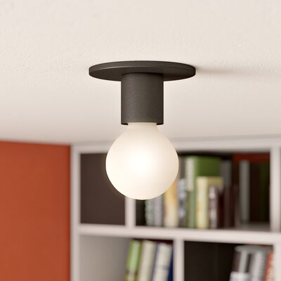 Hylton 1-Light Semi Flush Mount Finish: Bronze