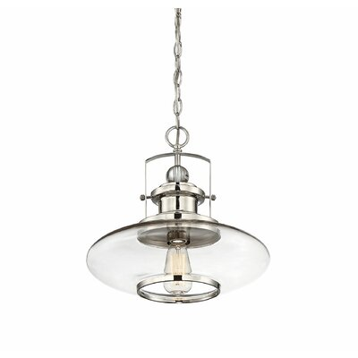 Yelton 1-Light Mini Pendant Finish: Polished Nickel