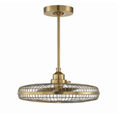 14 Yeates 3 Blade LED Ceiling Fan with Remote Finish: Warm Brass