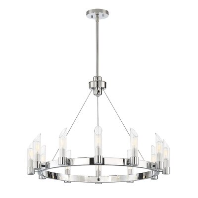Madsen 12-Light LED Candle-Style Chandelier