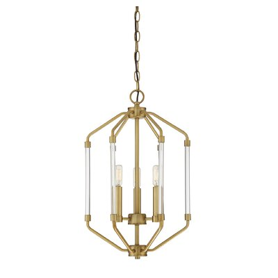 Hulsey 3-Light Foyer Pendant Finish: Warm Brass