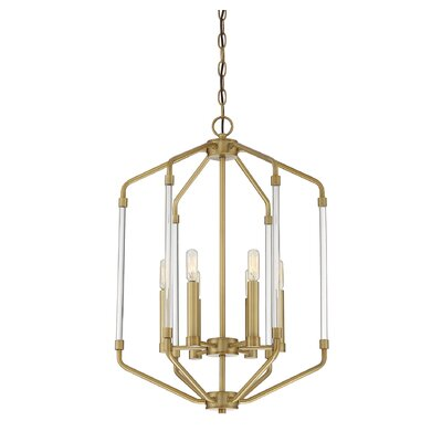 Hulsey 6-Light Foyer Pendant Finish: Warm Brass