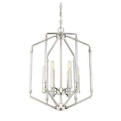 Hulsey 6-Light Foyer Pendant Finish: Polished Nickel