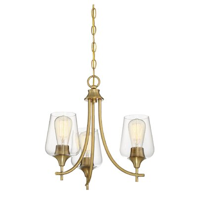 Staci 3-Light LED Candle-Style Chandelier Finish: Warm Brass