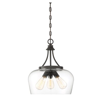 Staci 3-Light Inverted Pendant Finish: English Bronze