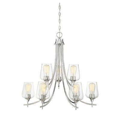 Staci 9-Light LED Candle-Style Chandelier Finish: Polished Chrome