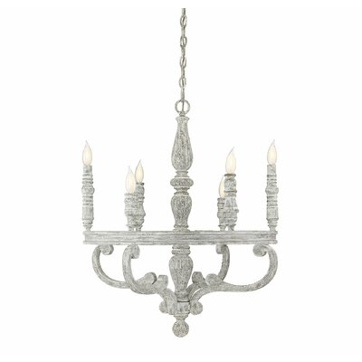 Lauritzen 6-Light LED Candle-Style Chandelier