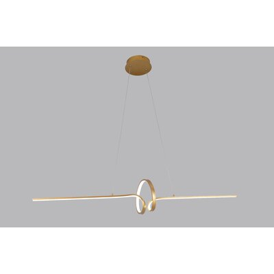 Beedle 1-Light LED Geometric Pendant Finish: Gold