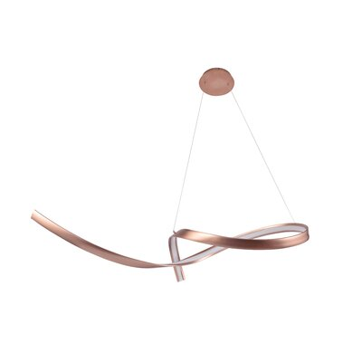 Bedwell 1-Light LED Geometric Pendant Finish: Copper