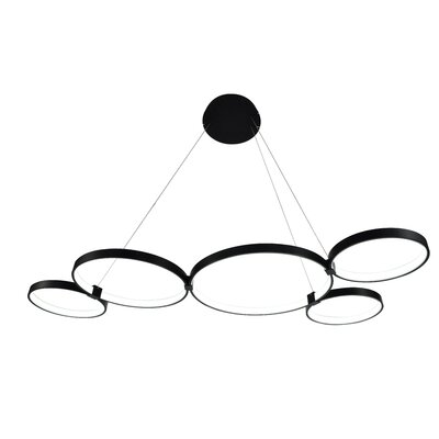 Beemer LED Geometric Pendant Finish: Black