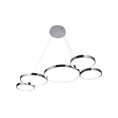 Beemer LED Geometric Pendant Finish: Chrome