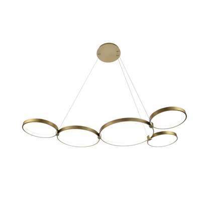 Beemer LED Geometric Pendant Finish: Gold
