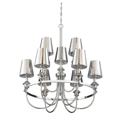 Mickle 9-Light LED Candle-Style Chandelier