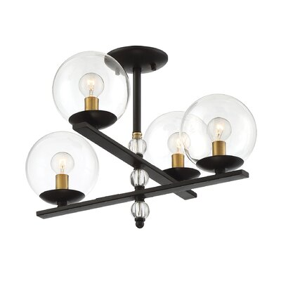 Hargraves 4-Light LED Semi Flush Mount