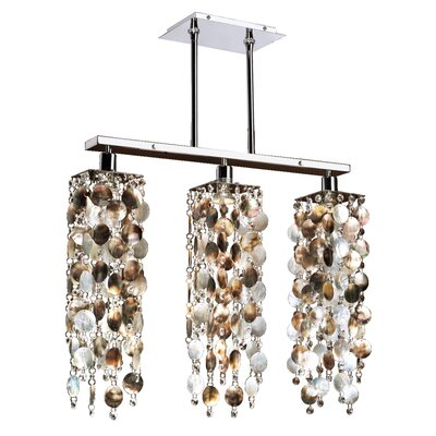 Charest Mother of Pearl 3-Light Kitchen Island Pendant