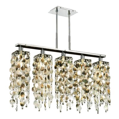 Citrana Mother of Pearl 5-Light Kitchen Island Pendant