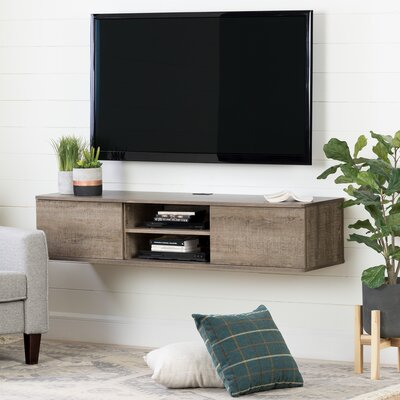 Agora Wall Mounted Media Console 56  TV Stand Color: Weathered oak