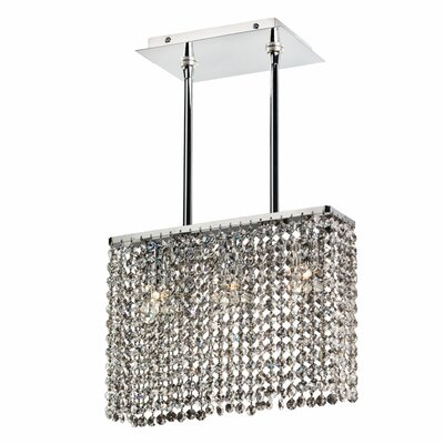 Kneeland 3-Light Crystal Pendant