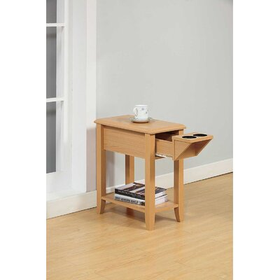 Tollett Chairside End Table with Storage Color: Beech