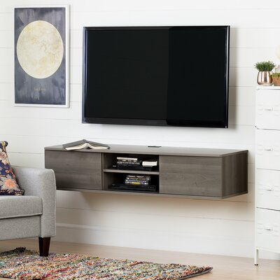 Agora Wall Mounted Media Console 56  TV Stand Color: Gray maple