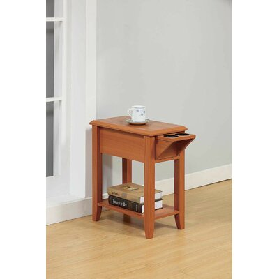 Tollett Chairside End Table with Storage Color: Light Cherry