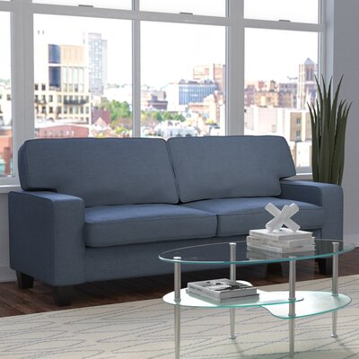 Bittle Linen Modern Living Room Sofa Upholstery: Blue