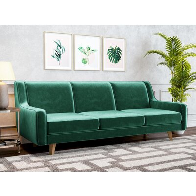 Weigle Sofa Upholstery: Emerald Green